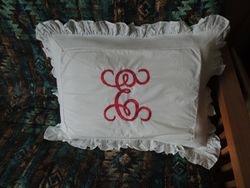 "8"" Pillow Sham Monogram"