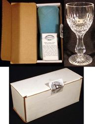 RMS TITANIC FIRST CLASS CRYSTAL WINE GLASS GOBLET