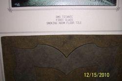 Original Titanic First Class Smoking Room Tile