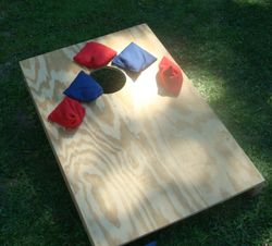 Bean bag toss!!