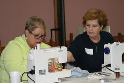 Family Sewing Together!