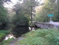 Catherine's Creek bridge, county line