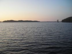 Holladay Island from Cannons Ferry