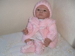 pink set with lace and bob hat 17-20