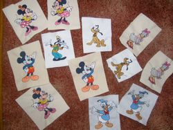 assorted disnet , donald, daisy, mickey, minnie, goofy and pluto