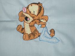 tigger and blanket