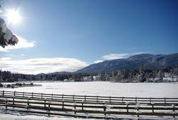 Those beautiful clear winter skies.