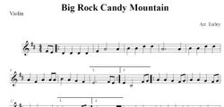 Big Rock Candy Mountain for Violin