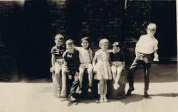 "Some friends in""The Big Yard"" (Ardwick court)"