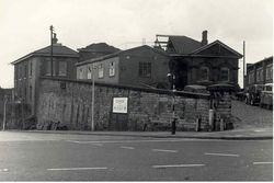 Heaton Norris Rail Station undergoing demolition.