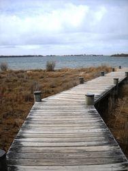 Walkway to the New Harbort Salt Pond
