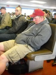Assume the position, ferry fatigue