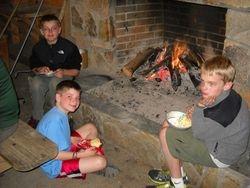 Fireside at the Sisson Shelter