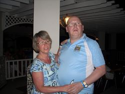 me and julie on holiday in cuba
