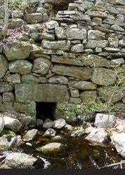 culvert in a stone dam