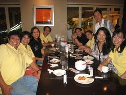 Dinner with ABS-CBN staff