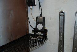 Shelf with ipod stand