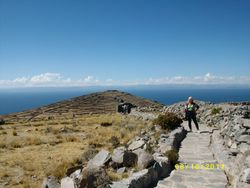 View of Pachamama on Amantani Island!