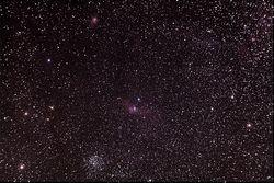 M52, NGC7635, NGC7538