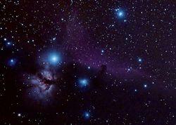 IC434, NGC2024  - Horsehead & Flame Nebulae
