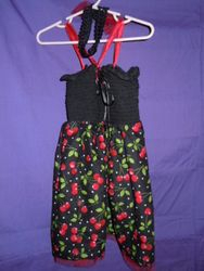 Black & Red Cherry summer dress