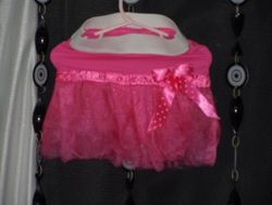 Pink fitted Tutu with Elastic Waist
