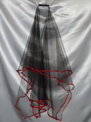 Sexy Black & Red Party Veil