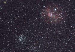 M52 and the Bubble Nebula