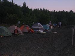 Camp on Sandy Beach - Sunset
