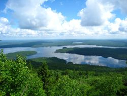 View of Lobster Lake from Lobster Mountain