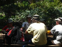 Kids at lunch Crescent Meadow - Sequoia National Park