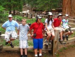 Kids at General Sherman Tree
