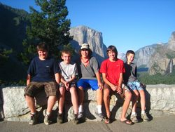 Scouts at Tunnel View Vista - Yosemite National Park