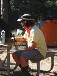 Zach at Yosemite campsite
