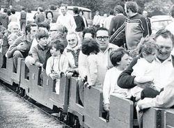 A trip on the model railway.