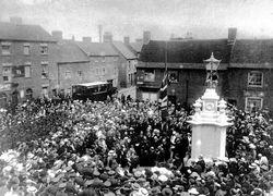 Unveiling Fazeley War Memorial.