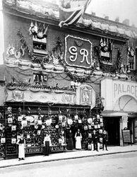 A decorated Palace Cinema, George Street, Tamworth
