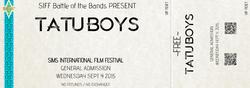 TATU BOYS SIFF Concert Ticket