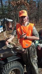 Hillbilly and his buck