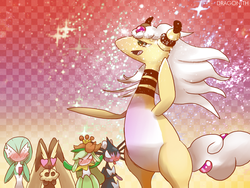MegaAmpharos stuns all the girlmon