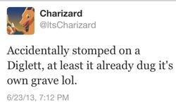 Charizard tweets