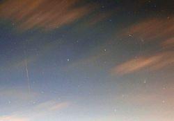 Panstarr, Andromeda and Iridium flare