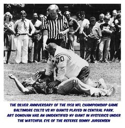 Art Donovan:  The Silver Anniversary of the 1958 NFL Championship game