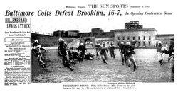 Baltimore Colts first touchdown
