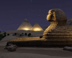 The Great Sphinx guarding the Pyramids