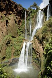 Breathtaking View of the Cascades D'Ouzoud waterfalls