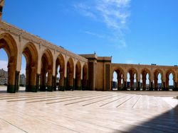 Arial Side View of Hassan II Mosque, Casablanca