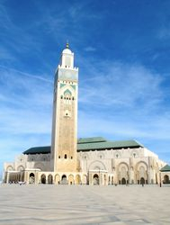 Hassan II Mosque, Blue Skies & a Verse of the Qur'an