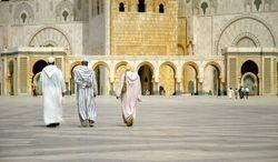 Hassan II Mosque, Worshipers in Casablanca