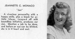 1947, Jan Monaco